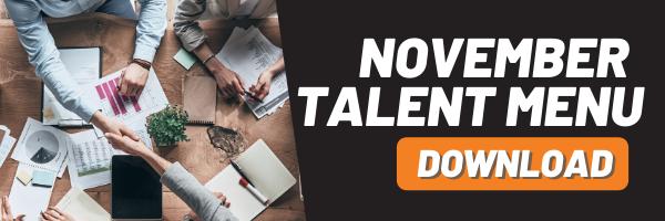 MAU Talent Menu - November 2019