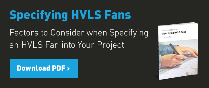 Supplementing HVAC with HVLS Fans