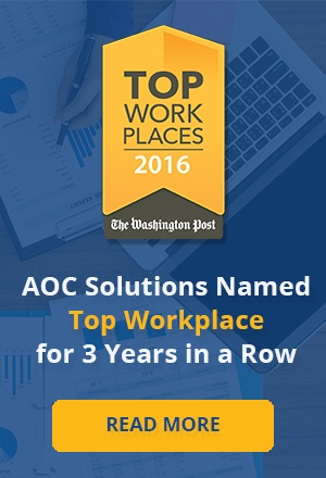 AOC Solutions named top workplace by Washington Post