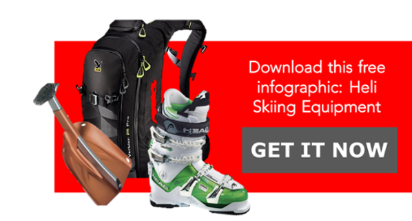 Download free infographic: Heli skiing equipment