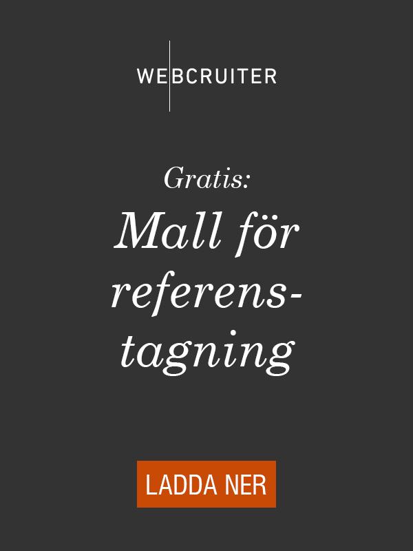 Gratis: Mall för referenstagning