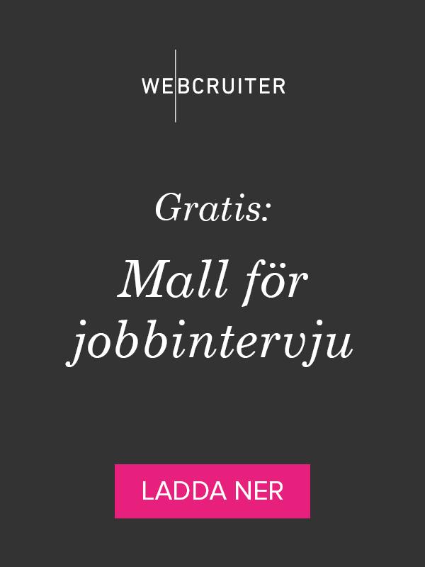 Gratis: Mal för jobbintervju