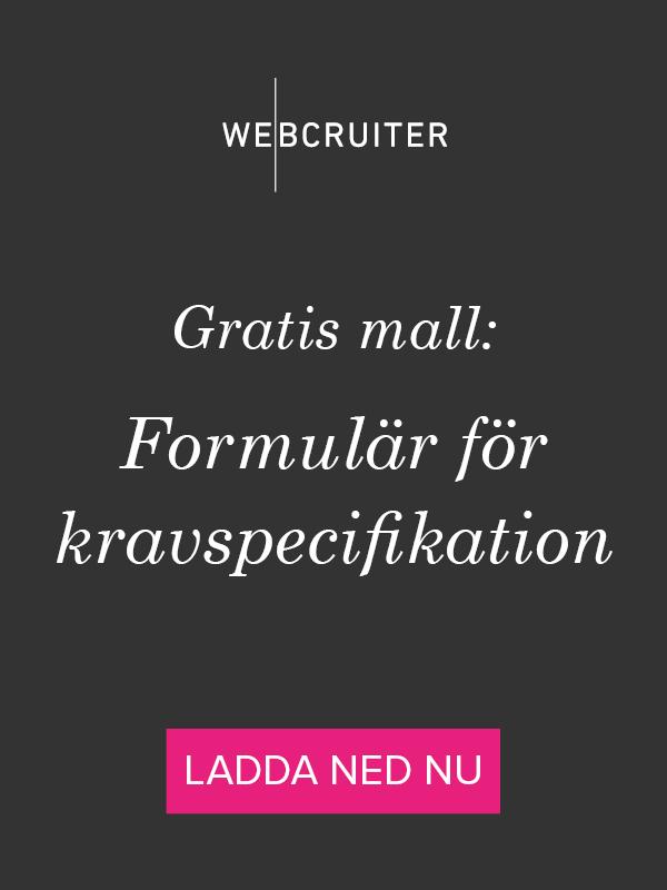 Gratis mall: formulär för kravspecifikation
