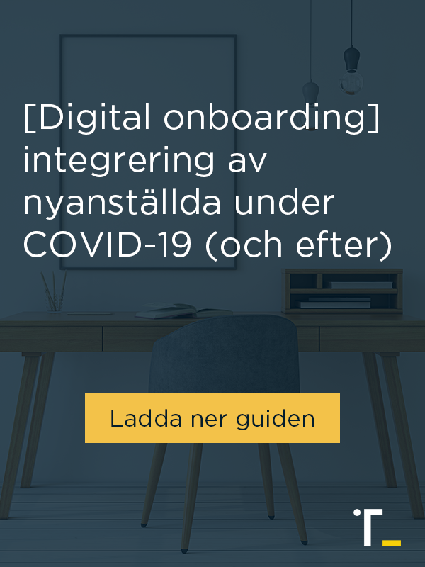 [Digital Onboarding] integrering av nyanställda under COVID-19 - Ladda ner guiden