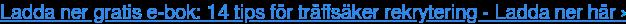 Ladda ner gratis e-bok:14 tips för träffsäker rekrytering -Ladda ner här ›