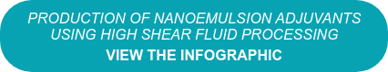 Production of Nanoemulsion Adjuvants  Using High Shear Fluid Processing View the Infographic