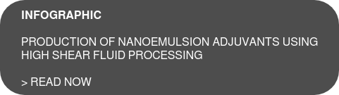 INFOGRAPHIC  Production of Nanoemulsion Adjuvants using  high shear fluid processing  > Read now