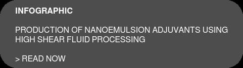 INFOGRAPHIC  Production of Nanoemulsion Adjuvants using  high shear fluid processing  > Read now