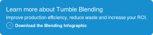 Learn more about Tumble Blending  Improve production efficiency, reduce waste and increase your ROI.  Download the Blending Infographic