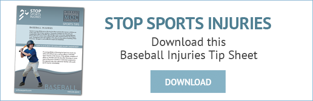 baseball injuries tip sheet download
