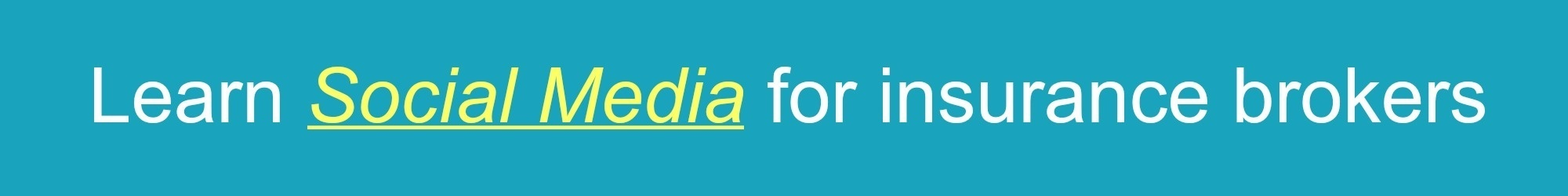 social media for insurance