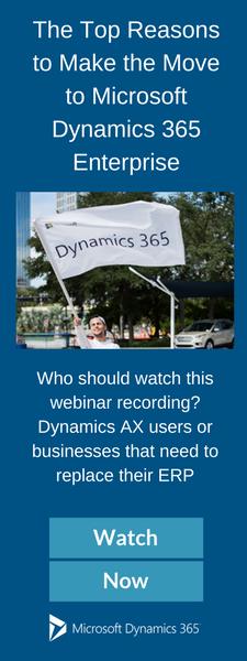 Webinar Replay Dynamics 365 Enterprise