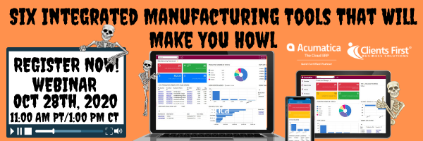 Six Integrated Manufacturing Tools Webinar