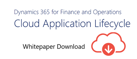 Dynamics 365 for Finance and Operations Lifecycle