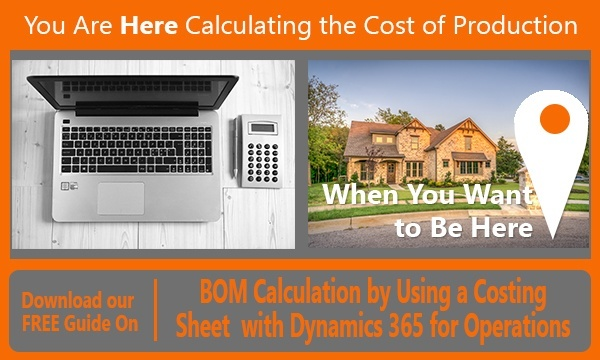 Calculating the cost of production with Dynamics 365