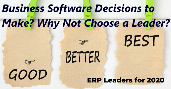 ERP Leaders in Ease of Use and Functionality