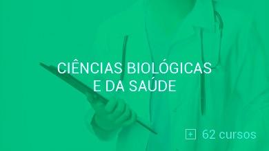 Conheça os cursos de Ciências Biológicas e Ciências da Saúde