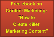 Free ebook on  Content Marketing: