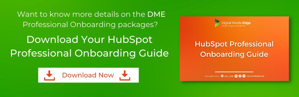 Digital Media Edge Hubspot Professional Onboarding
