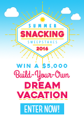 2016 Summer Snacking Sweepstakes Win $5000 vacation