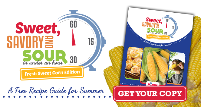Sweet Savory and Sour in under an hour. Fresh Sweet Corn Edition.
