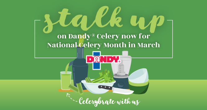 Stalk up on Dandy Celery now for National Celery Month in March