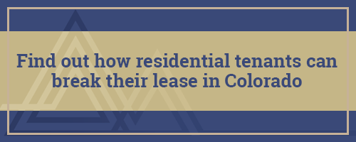 Breaking a Lease in Colorado