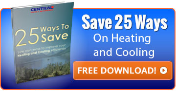 Download our FREE eBook on 25 Ways To Save on Heating and Cooling