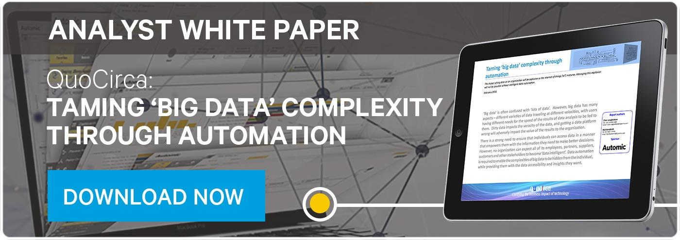 Taming Big Data Complexity Through Automation