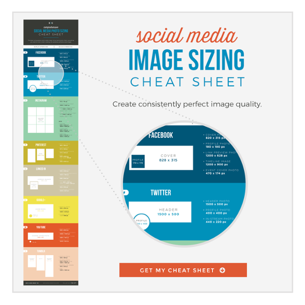 social media image sizing cheat sheet