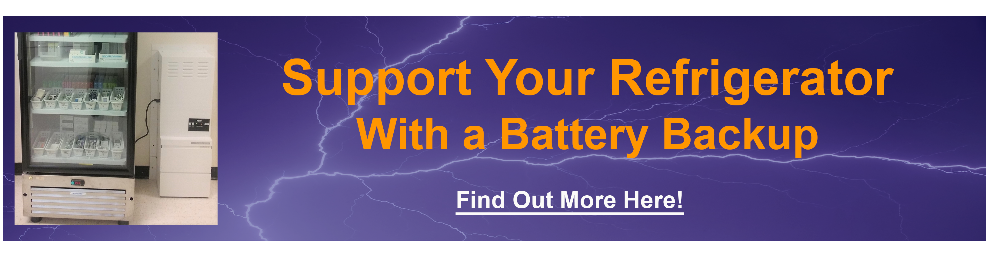 SUPPORT YOUR REFRIGERATOR WITH A BATTERY BACKUP