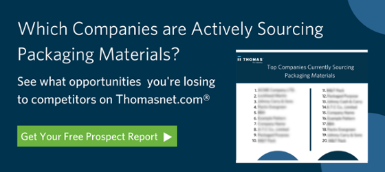 Which companies are actively sourcing packaging materials?
