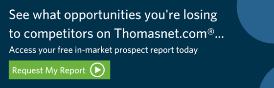 See what opportunities you're losing to competitor on Thomasnet.com
