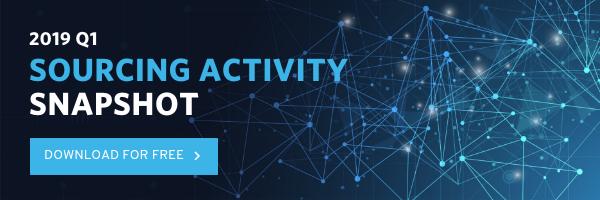 2019 Q1 Sourcing Activity Snapshot
