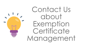 Contaqct Us about Exemption Certificate Management