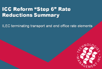 """ICC Reform """"Step 6"""" Rate Reduction Summary"""