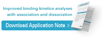 Improved binding kinetics analyses with association and dissociation, Download application note.