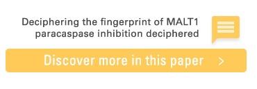 Read scientific paper about MALT1 paracaspase inhibition