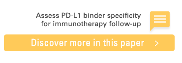 Read scientific paper to assess PD-L1 binder specificity for immunotherapy follow-up