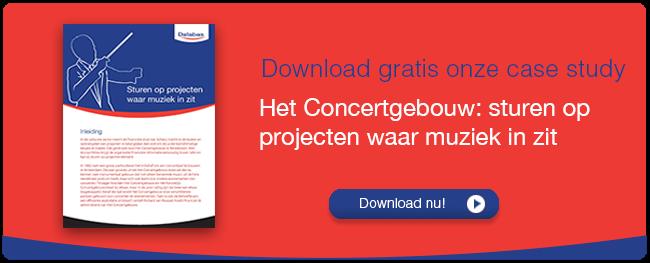 Casestudy:Het Concertgebouw, sturen op projecten waar muziek in zit