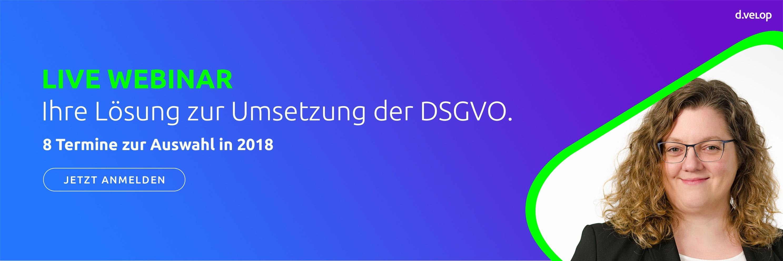 Live Webinar DSGVO