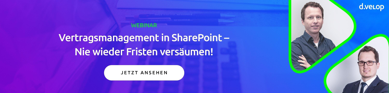 Vertragsmanagement in SharePoint