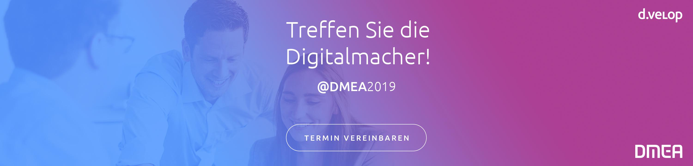 Treffen Sie die d.velop Digitalmacher @DMEA2019 in Berlin