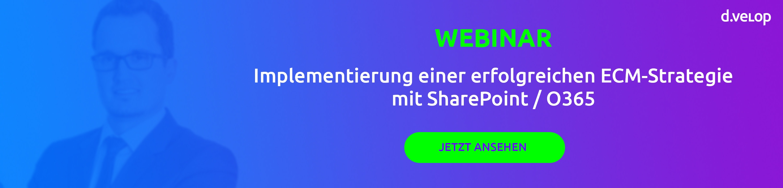 ECM Strategie mit SharePoint / O365 - d.velop Blog