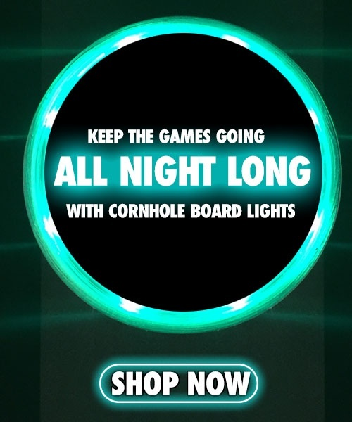 cornhole board lights cta