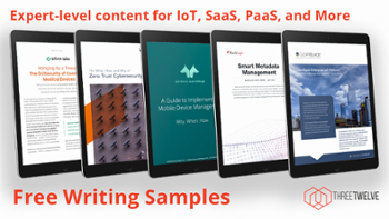 Tech writing content sample covers