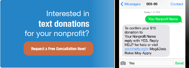 Receive text donations for nonprofits
