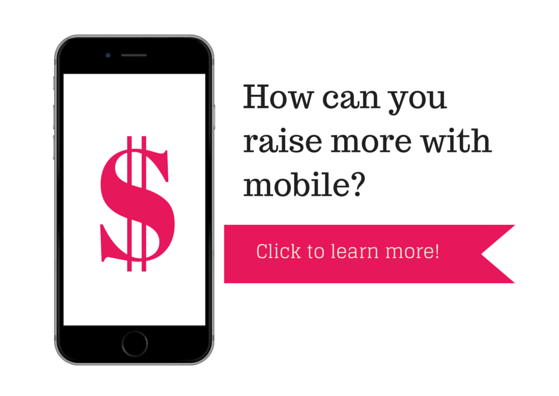 mobile, fundraising, mobile keyword, nonprofit