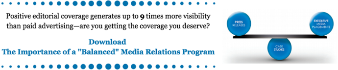 The importance of a balanced media relations program