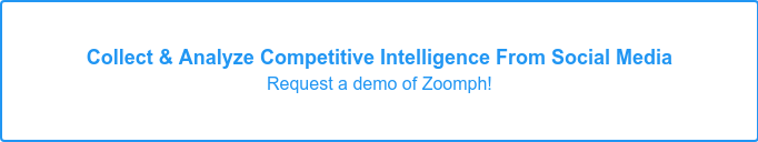 Collect & Analyze Competitive Intelligence on Social Media Try Zoomph!